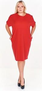 Sukienka Fokus z krótkim rękawem midi oversize
