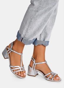 Sandały DeeZee w stylu casual z klamrami na niskim obcasie