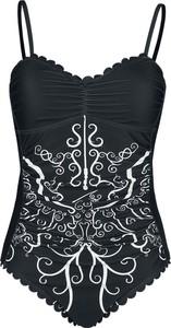 Czarny strój kąpielowy Emp z nadrukiem