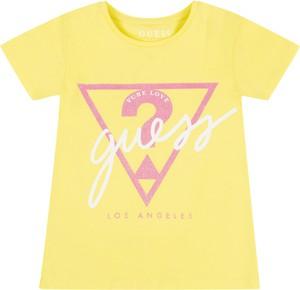 Żółta koszulka dziecięca Guess