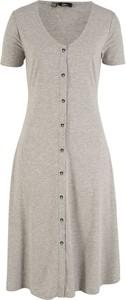 Sukienka bonprix bpc bonprix collection z krótkim rękawem midi