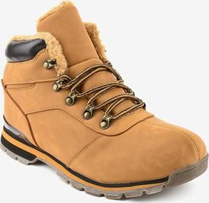 Brązowe buty zimowe Gemre.com.pl sznurowane