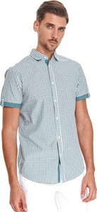 Koszula Top Secret z bawełny z krótkim rękawem z kołnierzykiem button down