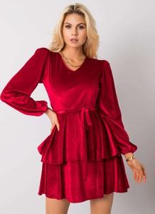 Sukienka Sheandher.pl w stylu casual z dekoltem w kształcie litery v mini