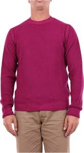 Fioletowy sweter Heritage w stylu casual