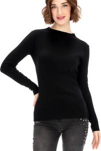 Czarny sweter Premiera Dona w stylu casual