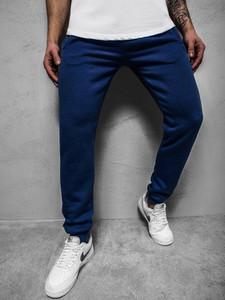 Niebieskie spodnie producent niezdefiniowany z dresówki