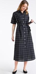 Czarna sukienka Monnari midi w stylu casual z kołnierzykiem