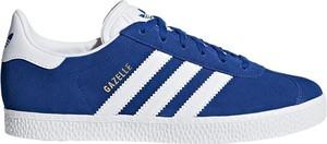 Niebieskie trampki dziecięce Adidas ze skóry sznurowane
