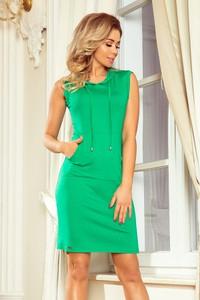 Zielona sukienka MORIMIA z okrągłym dekoltem bez rękawów