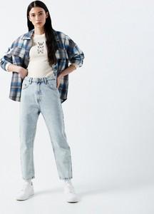 Niebieskie jeansy Cropp z jeansu w stylu casual