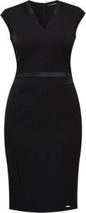 Czarna sukienka Monnari ze skóry ekologicznej