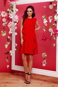 Czerwona sukienka TAGLESS bez rękawów