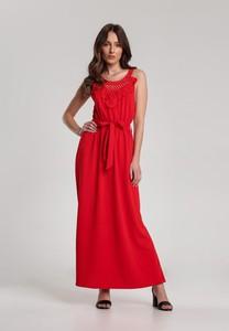 Czerwona sukienka Renee prosta