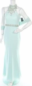 Zielona sukienka Weise z dekoltem w kształcie litery v