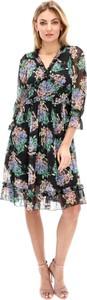 Sukienka Lavard z dekoltem w kształcie litery v z długim rękawem z tkaniny