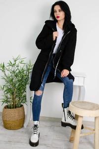 Płaszcz Olika w stylu casual z zamszu