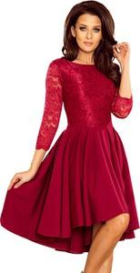 Sukienka NUMOCO z okrągłym dekoltem rozkloszowana