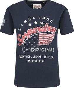 T-shirt Superdry z okrągłym dekoltem z nadrukiem z krótkim rękawem