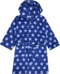 Niebieski szlafrok dziecięcy Sanetta z zamszu dla dziewczynek