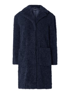 Granatowy płaszcz Salin