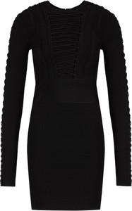 Czarna sukienka Marciano z okrągłym dekoltem mini