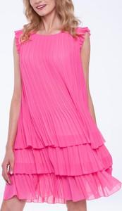 Różowa sukienka L'AF bez rękawów mini