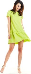 Sukienka Awama mini rozkloszowana z krótkim rękawem