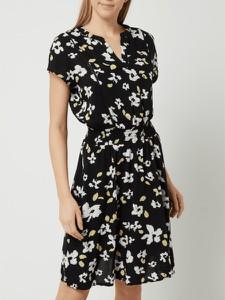 Czarna sukienka Ichi z krótkim rękawem mini