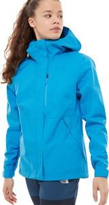 Niebieska kurtka The North Face krótka z dzianiny w stylu casual