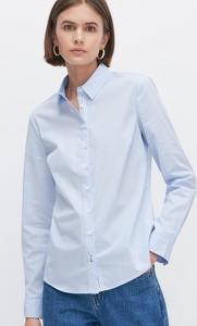 Niebieska koszula Reserved z kołnierzykiem
