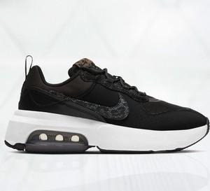 Czarne buty sportowe Nike ze skóry z płaską podeszwą sznurowane