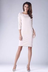Sukienka Nommo midi z długim rękawem