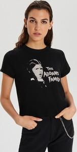 T-shirt Cropp z okrągłym dekoltem z krótkim rękawem z nadrukiem