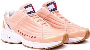 Różowe buty sportowe Tommy Hilfiger sznurowane