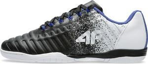 Czarne buty sportowe dziecięce 4F dla chłopców ze skóry