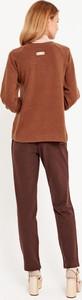 Brązowy sweter Byinsomnia w stylu casual