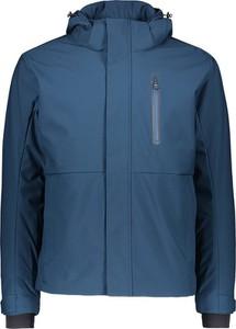 Niebieska kurtka CMP krótka z tkaniny w sportowym stylu