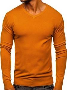 Pomarańczowy sweter Denley w stylu casual