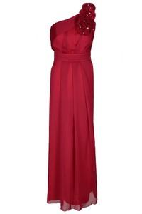 Czerwona sukienka Fokus z rubinem z przeźroczystą kieszenią