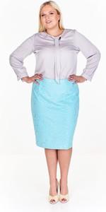 Niebieska spódnica Fokus z szyfonu