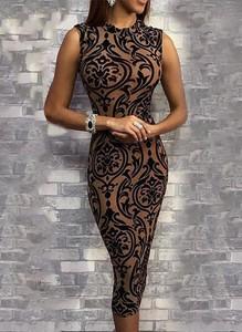 Sukienka Cikelly bez rękawów midi dopasowana