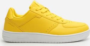 Żółte buty sportowe House sznurowane ze skóry