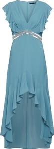 Niebieska sukienka Tfnc bez rękawów maxi
