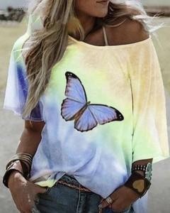 Bluzka Kendallme z bawełny z okrągłym dekoltem