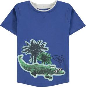 Niebieska koszulka dziecięca Tom Tailor dla chłopców z krótkim rękawem