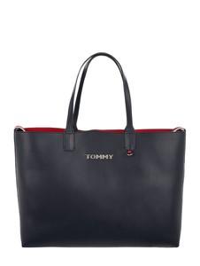 Torebka Tommy Hilfiger duża ze skóry ekologicznej na ramię