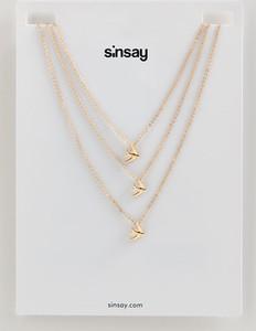 Sinsay - Kaskadowy naszyjnik z zawieszkami - Beżowy