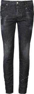Czarne jeansy Dsquared2 w street stylu