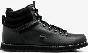 Czarne buty zimowe Lacoste